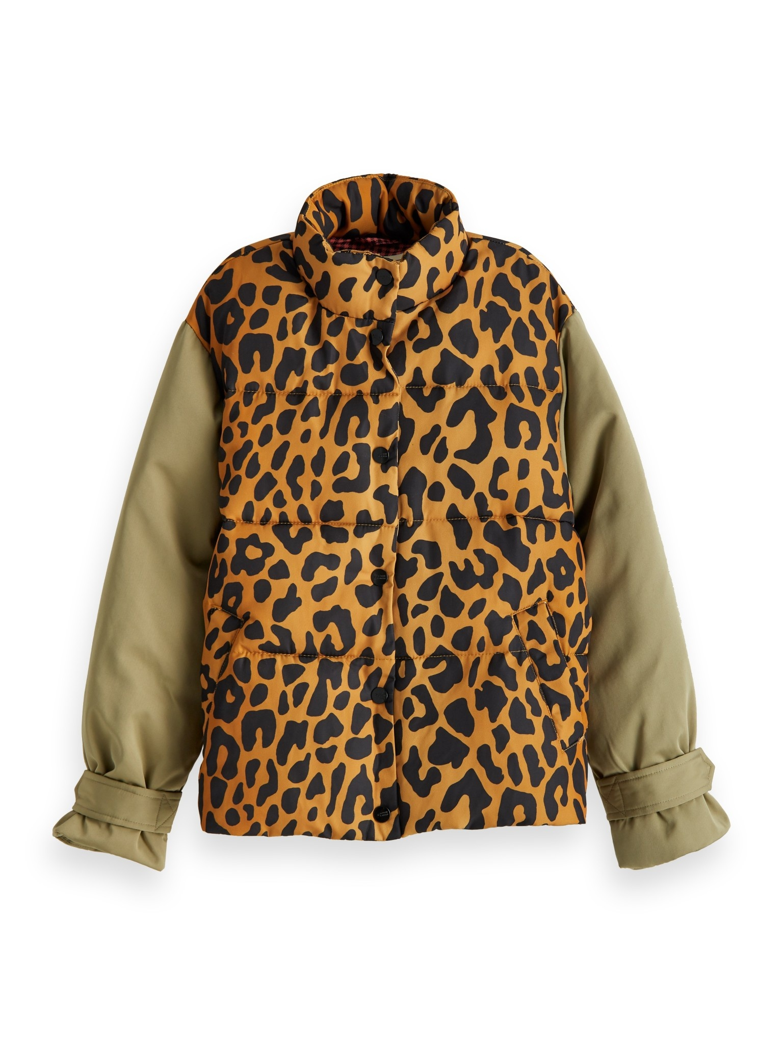 Scotch Rbelle Scotch - Puffer jacket with contrast sleeves, 157919
