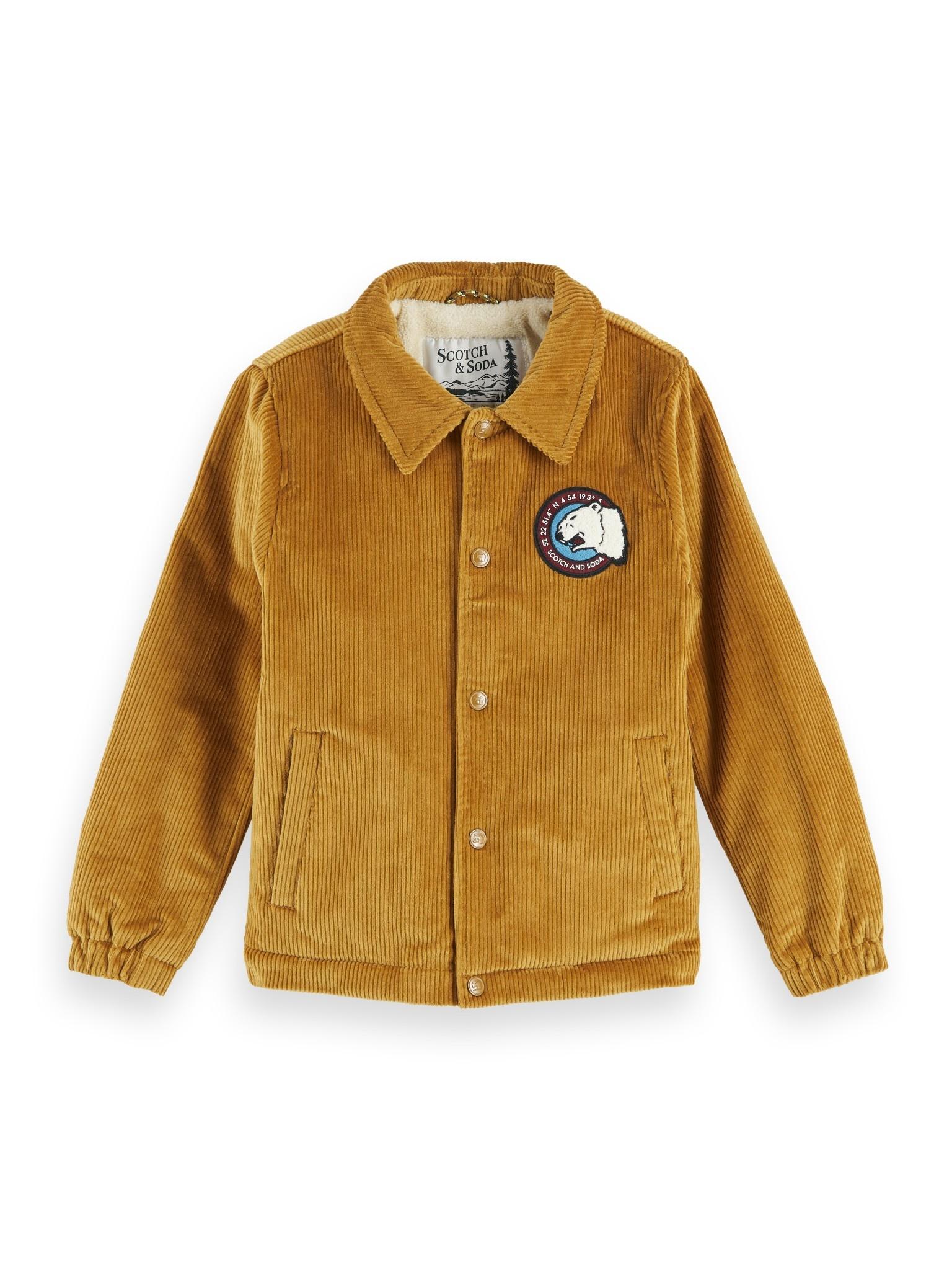 Scotch Shrunk Scotch - Corduroy jacket with teddy lining 157614