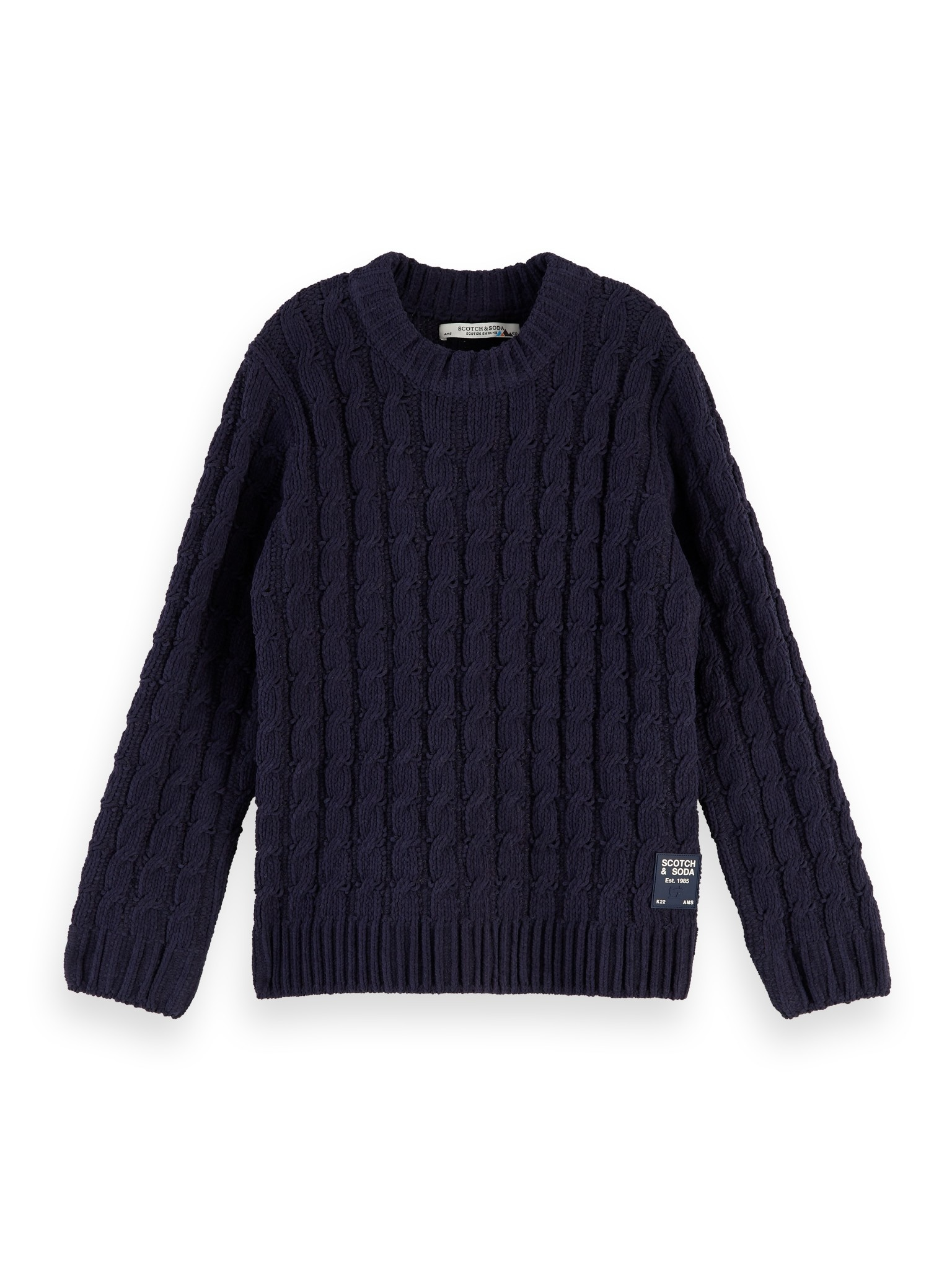 Scotch Shrunk Scotch - Crewneck pull with cable structure 0002, 157806