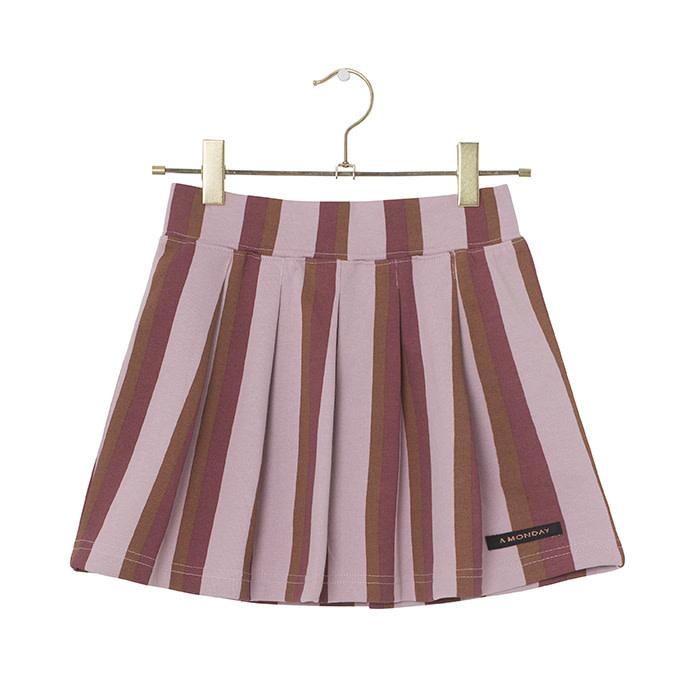 A Monday A Monday - Bina skirt dawn pink stripe