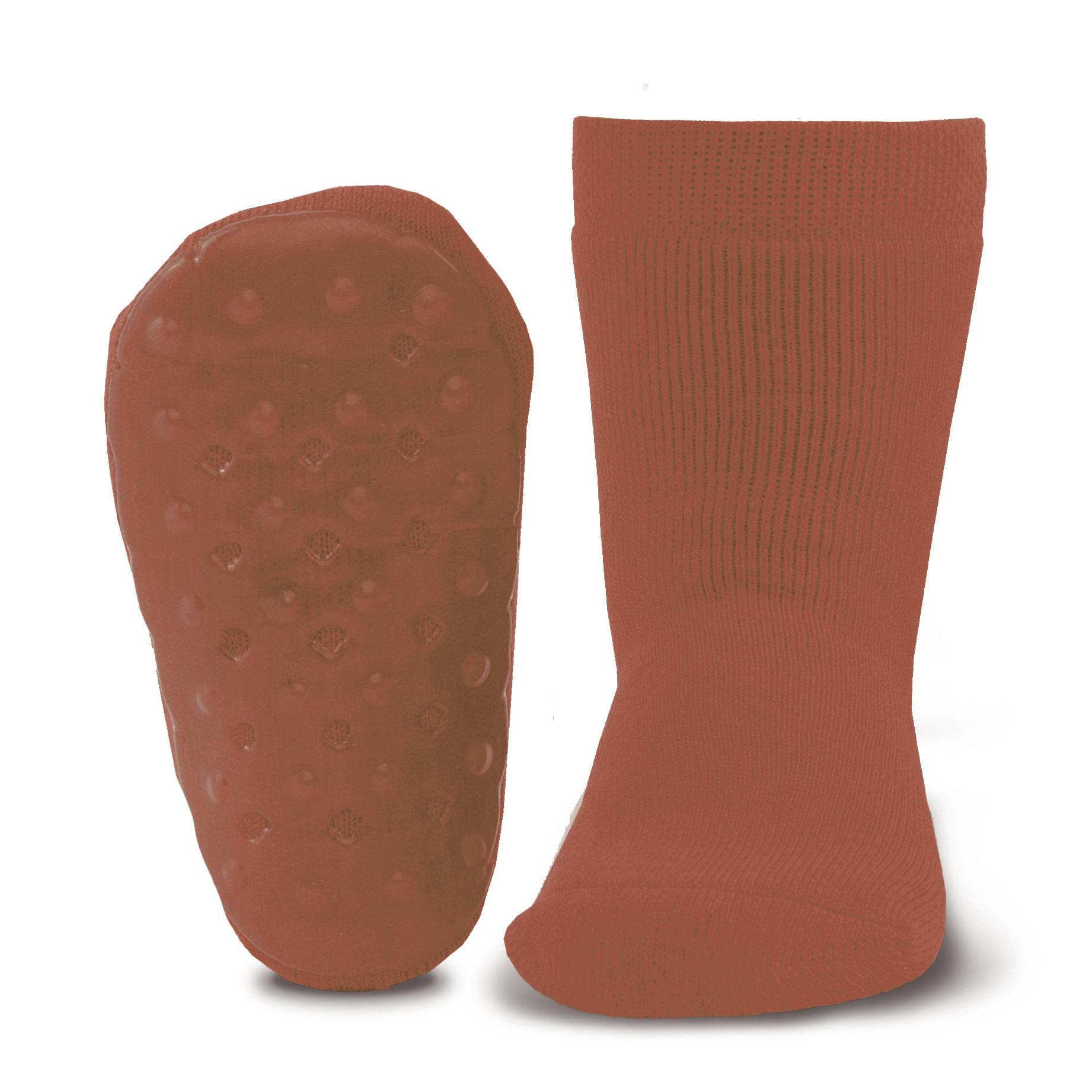 Ewers Ewers - Anti-slip socks uni kupfer