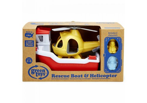 GreenToys Green Toys - Rescue Boat with helikopter