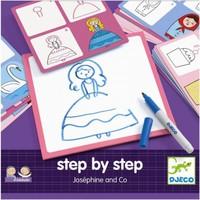 Djeco - Tekenkaarten prinsessen  step by step