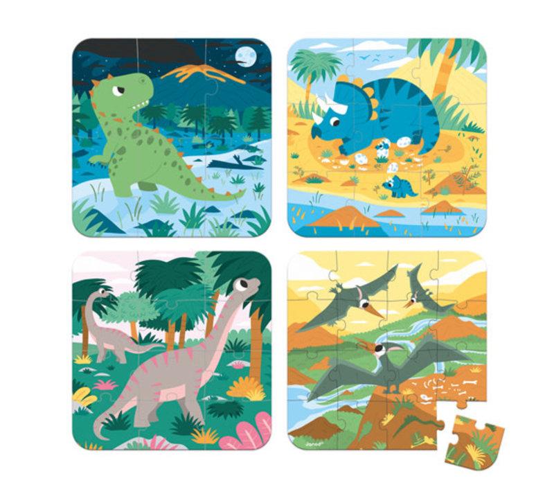 Janod - Kartonnen Puzzel Dinosaurus