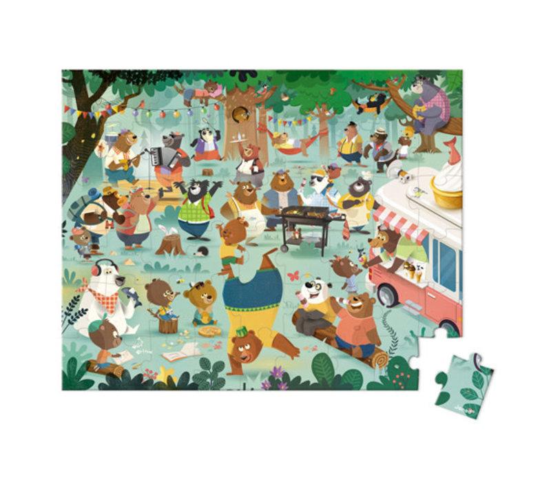 Janod - Kartonnen Puzzel Berenfamilie