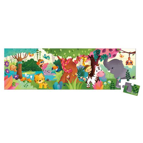 janod Janod - Kartonnen puzzel Panorama Jungle