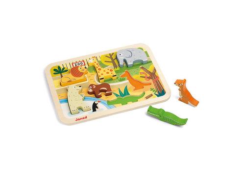 janod Janod - Houten puzzel dierentuin