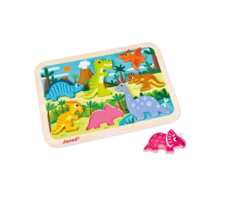 Janod - Houten puzzel Dinosaurus
