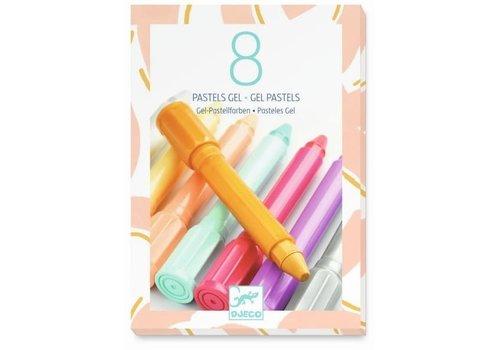 Djeco Djeco - 8 pastels gel, sweet