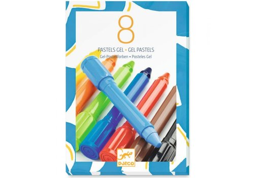 Djeco Djeco - 8 pastels gel, classique