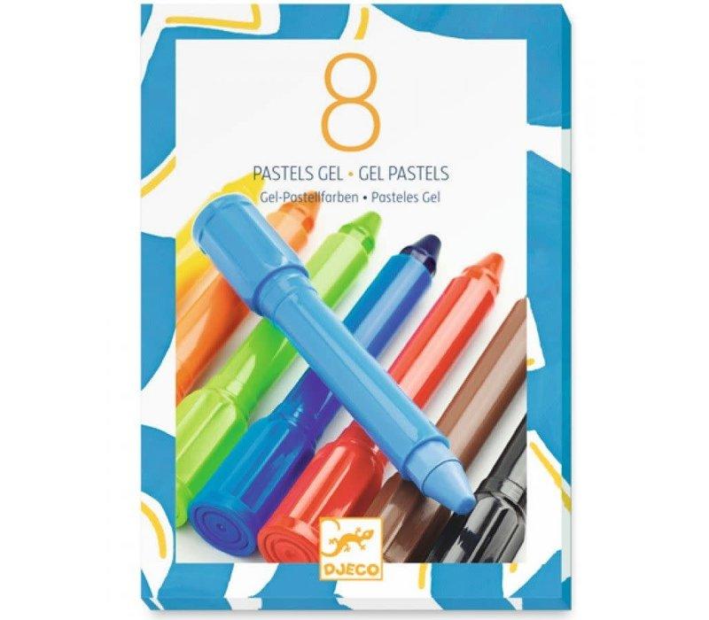 Djeco - 8 pastels gel, classique
