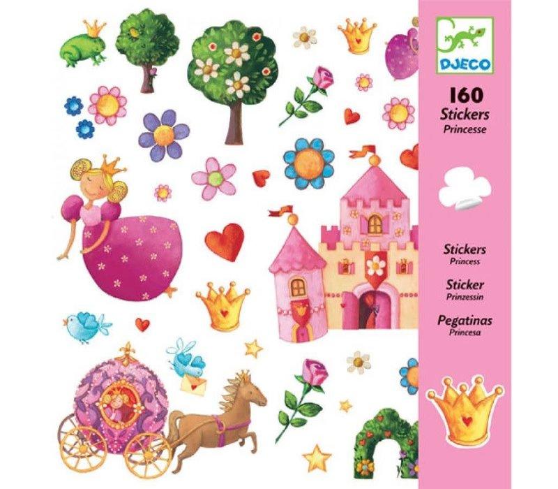 Djeco - Stickers prinsessen