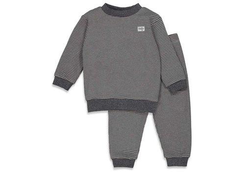 Feetje Feetje -  Pyjama wafel Antraciet - maat 56