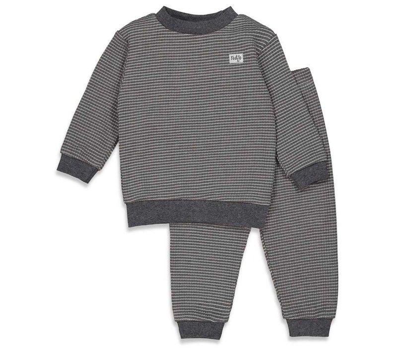Feetje -  Pyjama wafel Antraciet