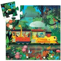 Djeco - Kartonnen puzzel Locomotief