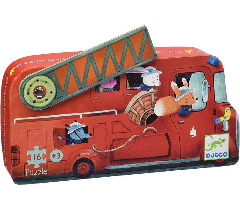 Djeco - Kartonnen Puzzel Brandweerwagen