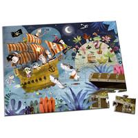 Janod - Kartonnen Puzzel Piraten