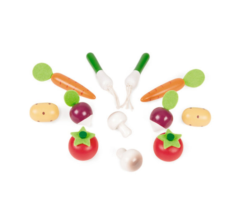 Janod - Houten groente mand