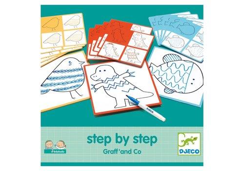 Djeco Djeco - Tekenkaarten dieren step by step
