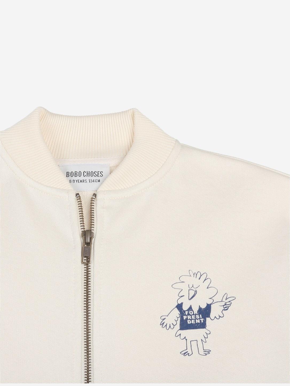 Bobo Choses Bobo Choses - Zipped sweatshirt - Bird Says Yes