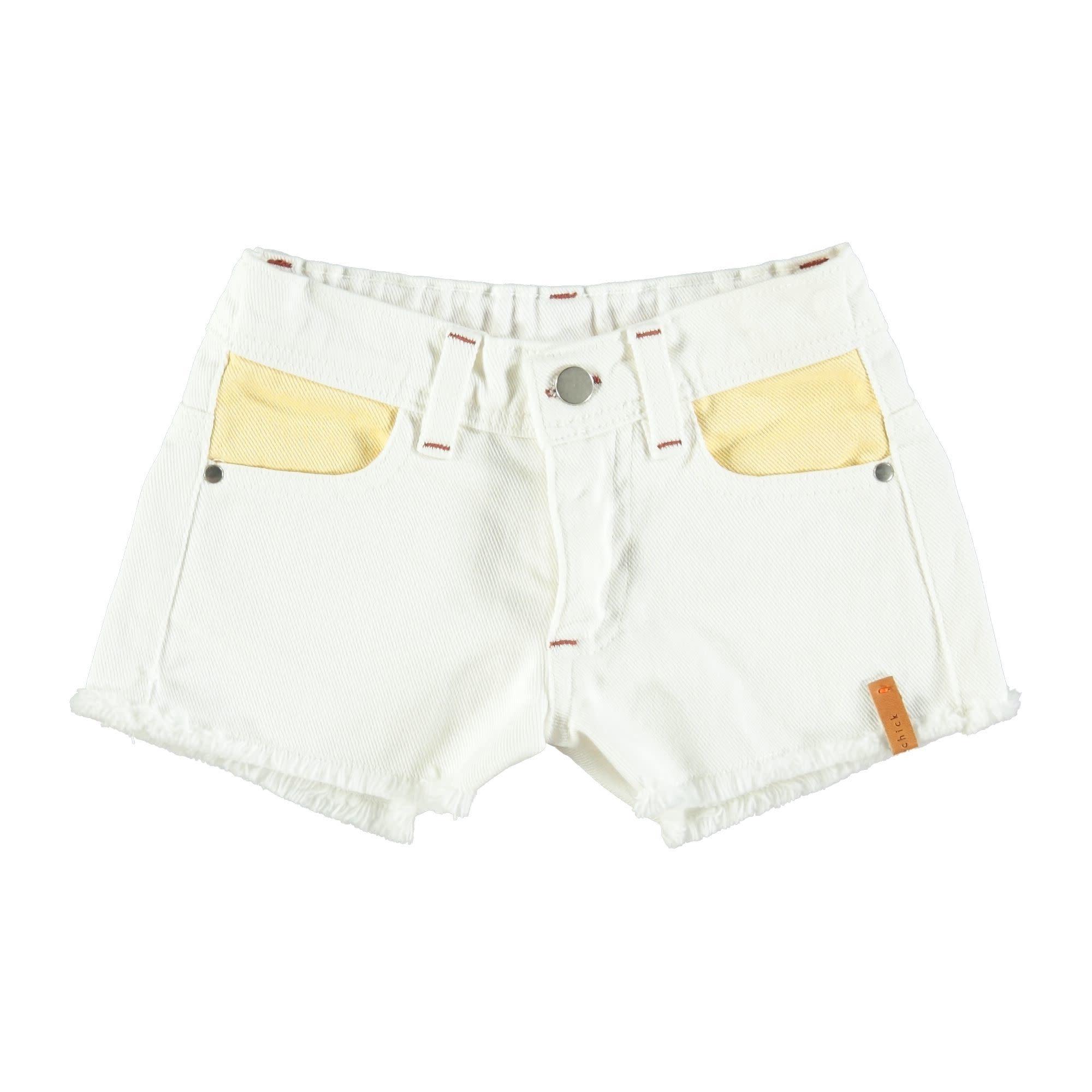 Piupiuchick Piupiuchick - Tricolor shorts off white yellow pink green