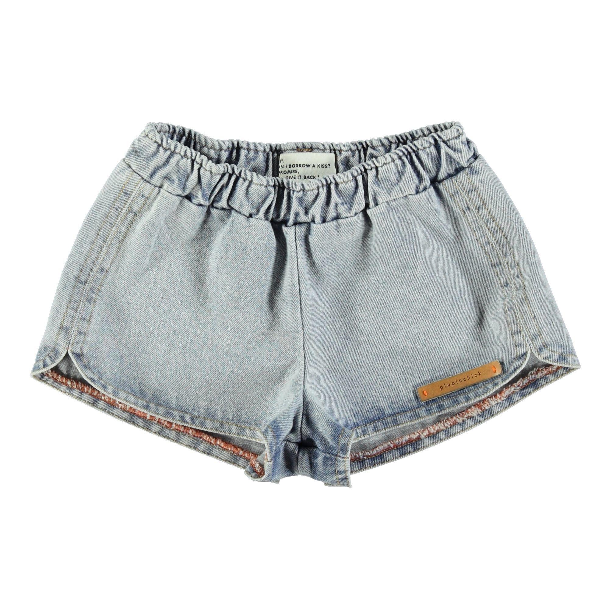 Piupiuchick Piupiuchick - Runner shorts washed blue jeans