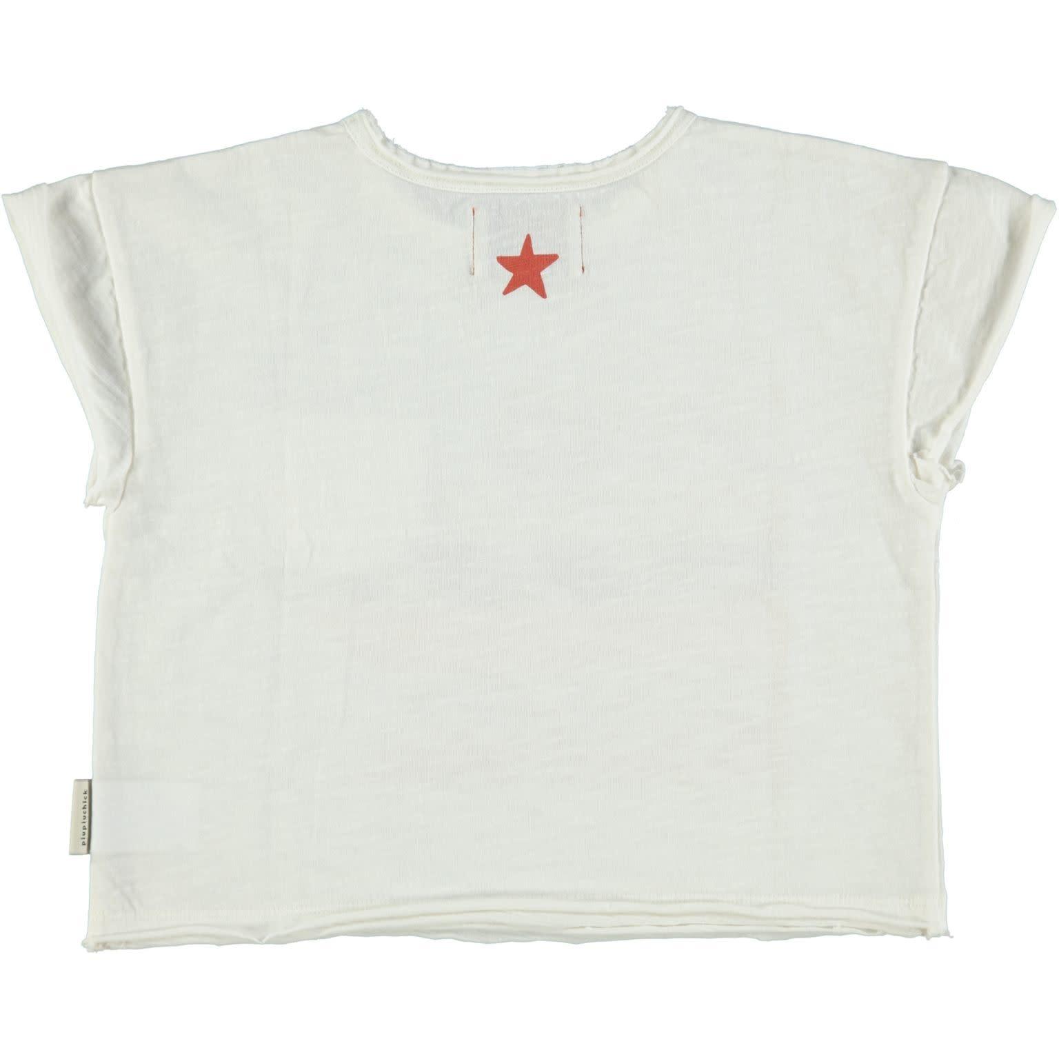 Piupiuchick Piupiuchick - T-shirt off white with print