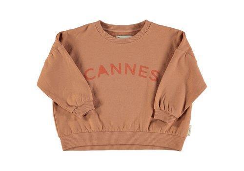 Piupiuchick Piupiuchick - Unisex sweatshirt nut with cannes print - 4 year