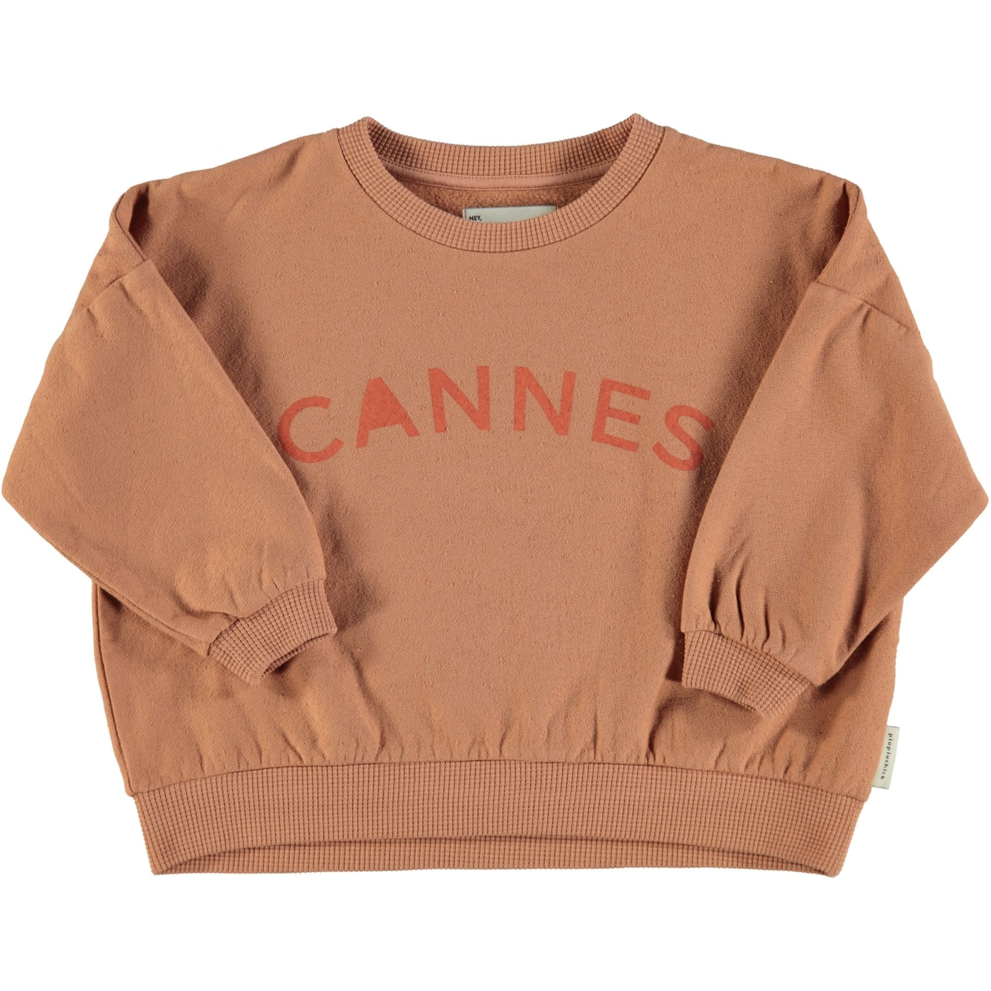 Piupiuchick Piupiuchick - Unisex sweatshirt nut with cannes print