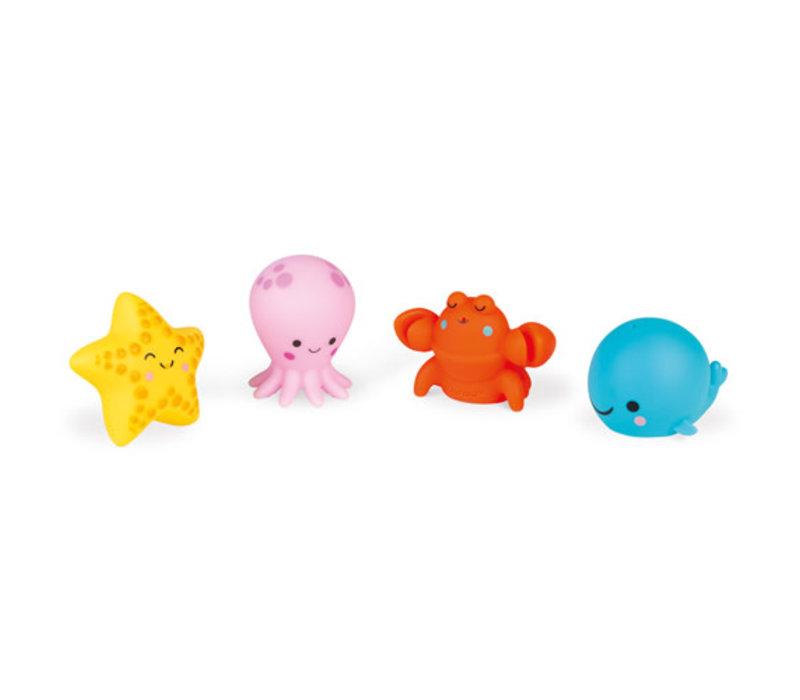 Janod badspeelgoed - spuitfiguur zeedieren