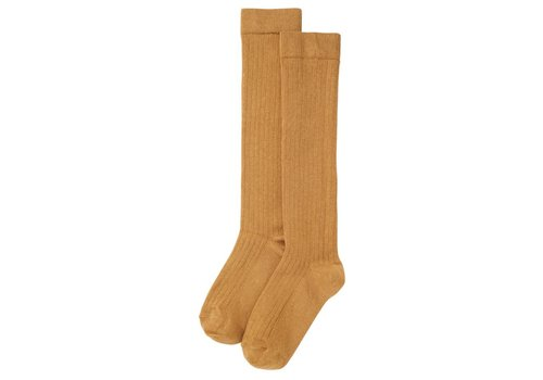 Mingo Mingo - Knee socks light ochre