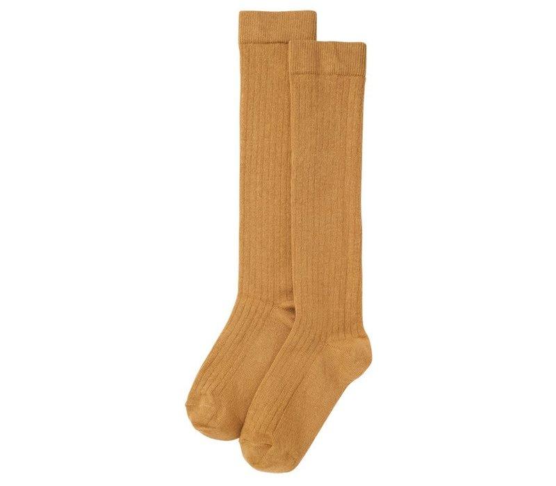 Mingo - Knee socks light ochre