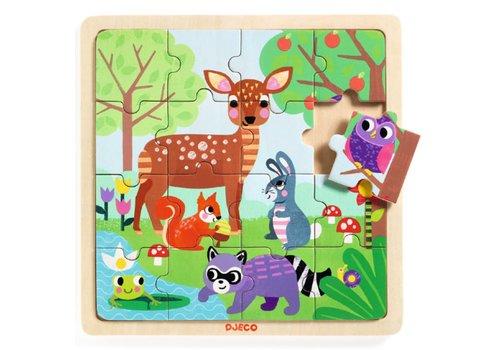 Djeco Djeco - Houten puzzel Forest