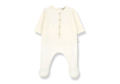 1+ in the family 1+ in the family - Didier jumpsuit with feet ecru
