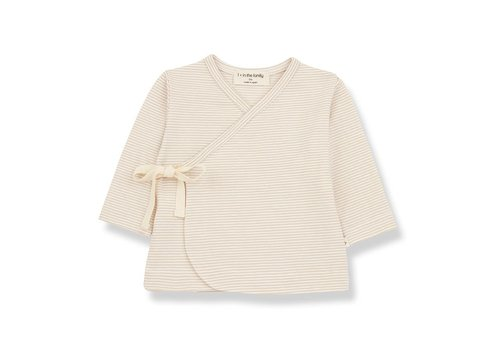 1+ in the family 1+ in the family - Sol newborn t-shirt beige 6 month