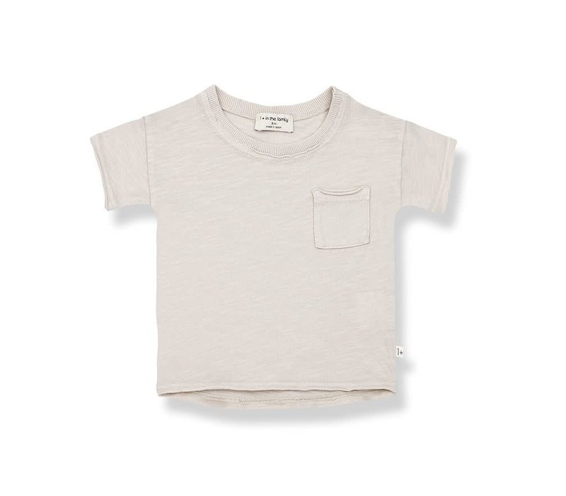 1+ in the family - Nani short sleeve t-shirt stone - 3 month