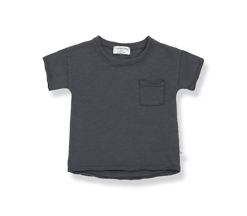 1+ in the family - Nani short sleeve t-shirt antracite - 6 month
