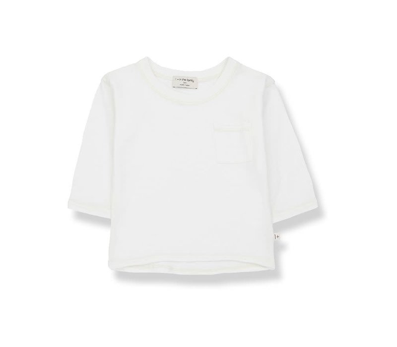 1+ in the family - Pere long sleeve t-shirt off-white - 12 month