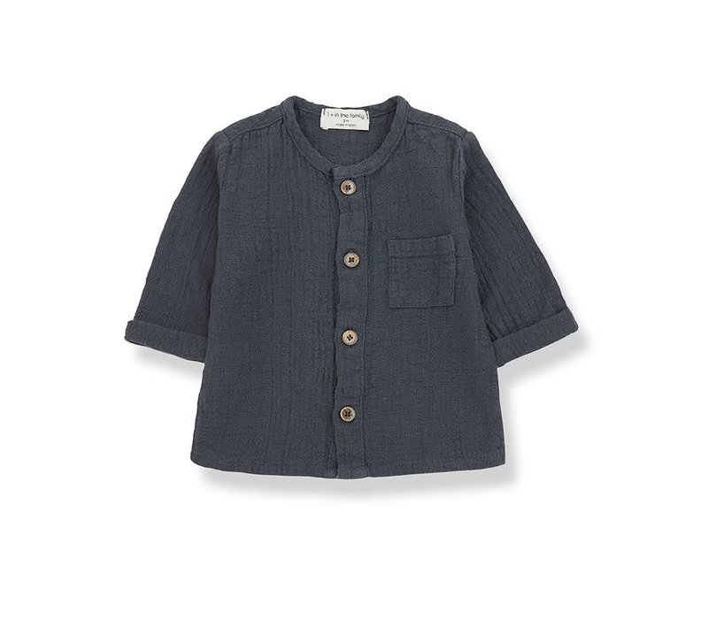 1+ in the family - Mauri long sleeve shirt anthracite 36 month