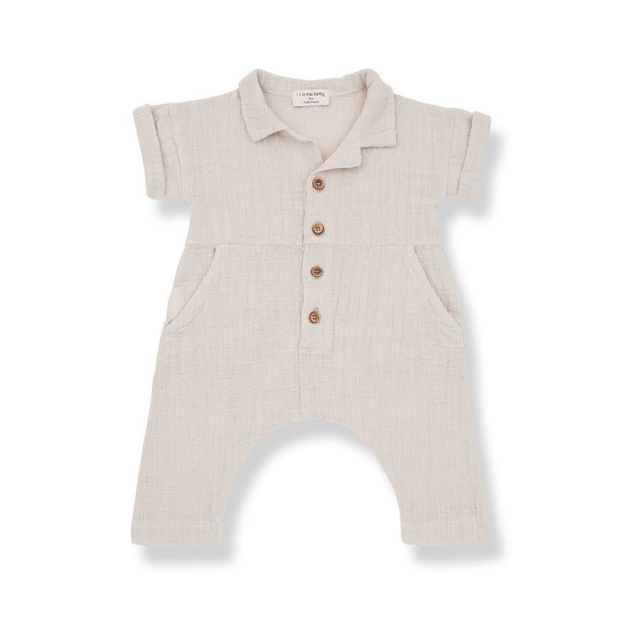 1+ in the family 1+ in the family - Carlota jumpsuit beige