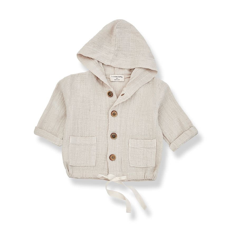 1+ in the family 1+ in the family - Yago hood jacket beige
