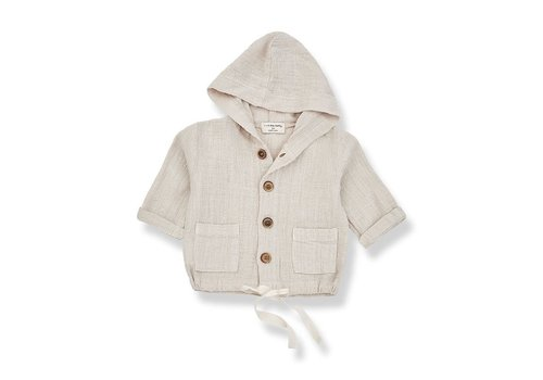 1+ in the family 1+ in the family - Yago hood jacket beige - 36 month