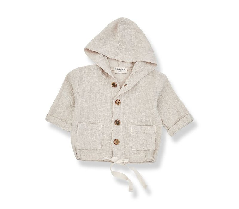 1+ in the family - Yago hood jacket beige - 36 month