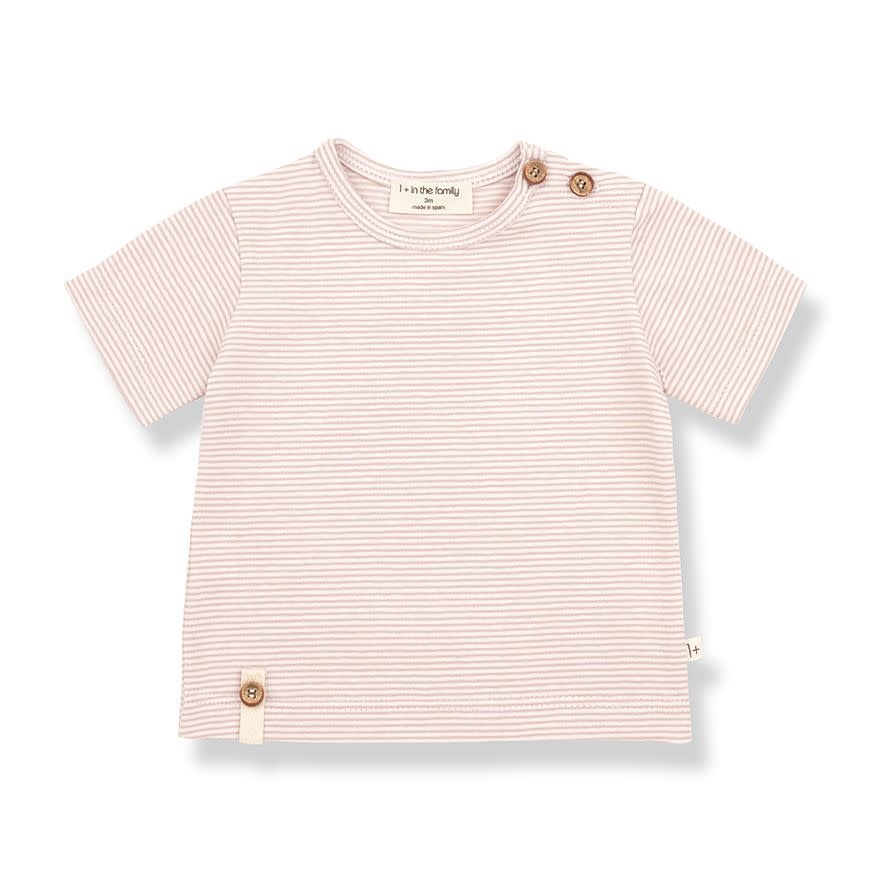 1+ in the family 1+ in the family - Blai short sleeve t-shirt  rose