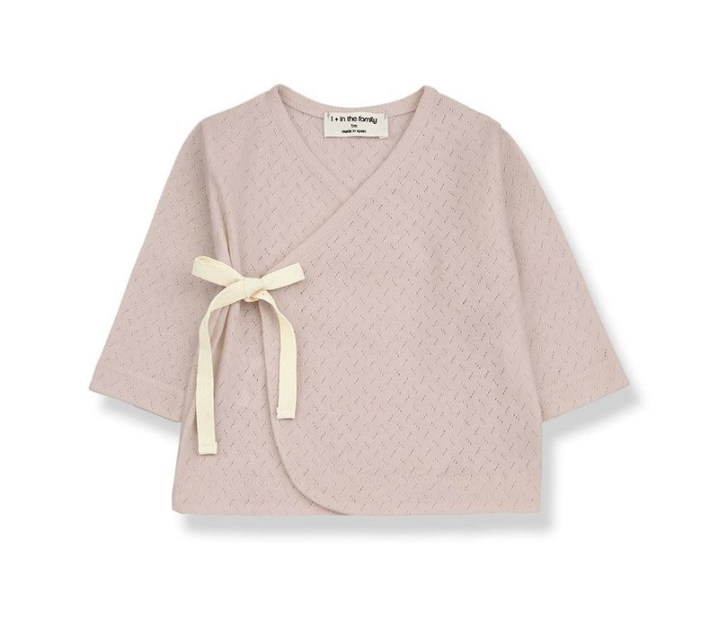 1+ in the family - Annie newborn t-shirt rose