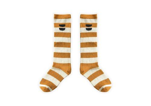 Sproet & Sprout Sproet & Sprout - High socks stripe desert