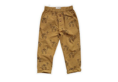 Sproet & Sprout Sproet&Sprout - Woven pants camel print desert
