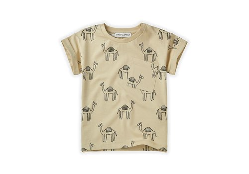 Sproet & Sprout Sproet&Sprout - T-shirt print camel sesam - 18/24 month