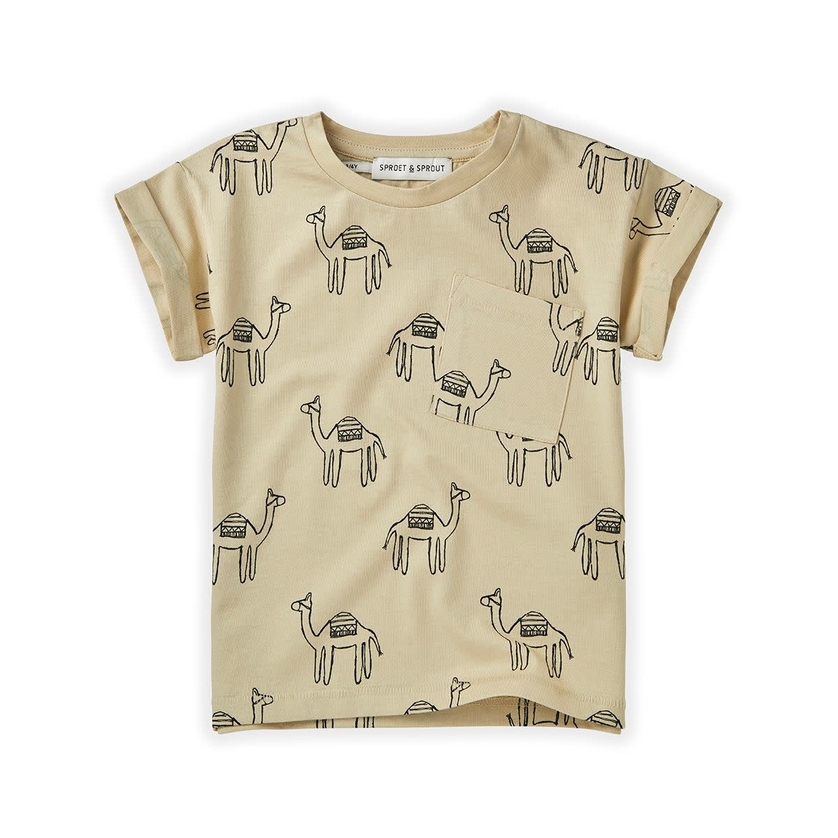 Sproet & Sprout Sproet&Sprout - T-shirt print camel sesam