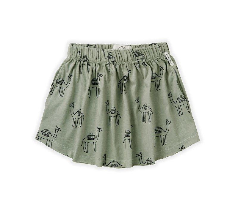 Sproet&Sprout - Skirt print camel eucalyptus